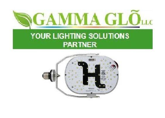 "http://gammaglo.com/ Parking Max 120 Watt Re 400 120 / 277 VAC 11,400 Lumin 5500 K 6.9""  X 5.0"" X 2.4"" CALL FOR PRICING 1.888.426.6254"