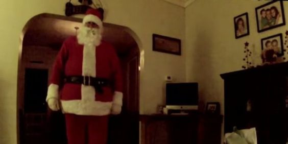 Excited Kid Catches Santa On Camera