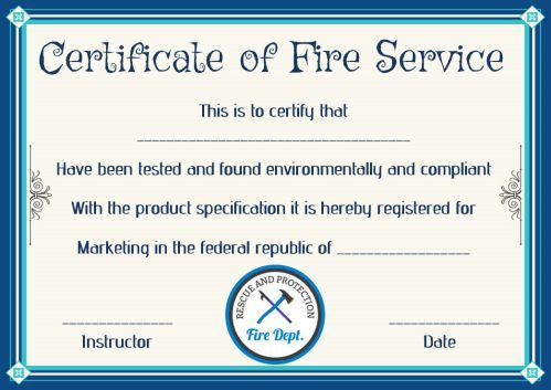 Fire Safety Certificate 10 Safety Certificate Templates