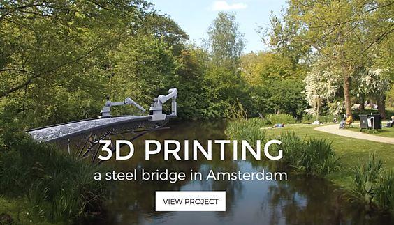 #MX3D druckt lastenfähige Brücke aus Stahl