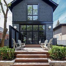 Black Window Trim On Grey House Google Search
