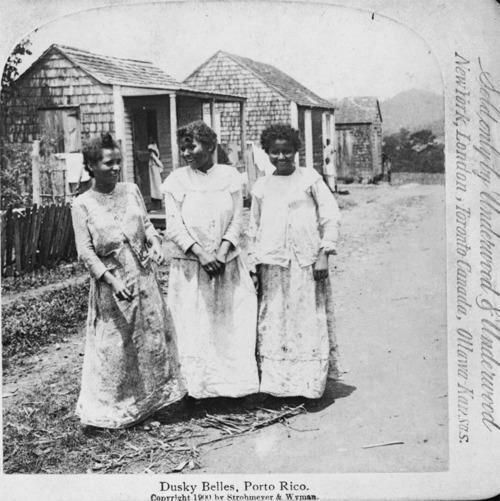 "avemaria324:Afro Puerto Rican Beauties. The pic says ""Dusky Belles 1900 Porto Rico. Sold by Underwood and Underwood"""