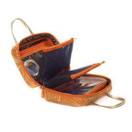 Stephanie Johnson ML Traveler Makeup Bag in Palm Desert Orange