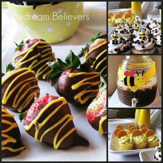 Bumble Bee, Spring, Baby Girl, Baby Shower Baby Shower