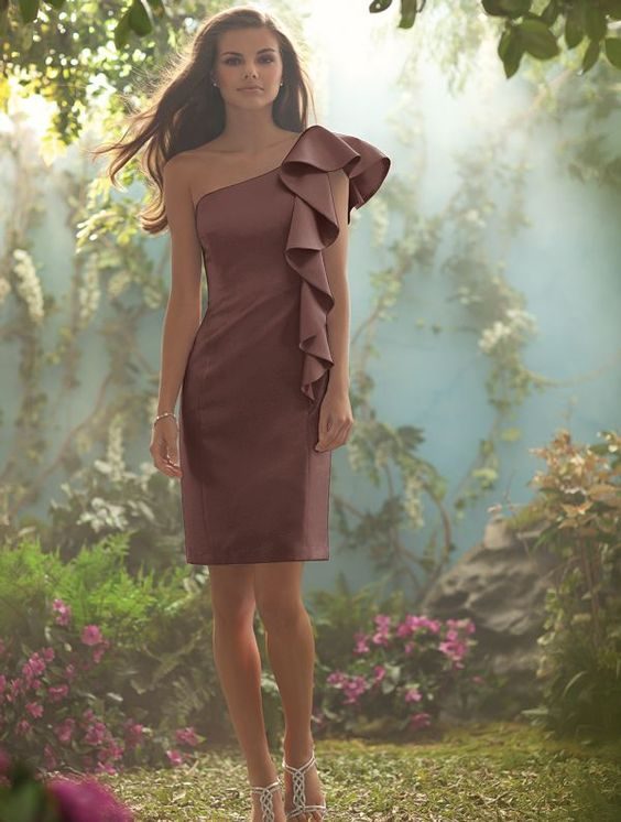 Alfred Angelo Bridesmaid Dress in Mocha