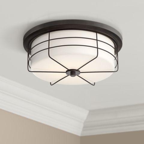 Lovett 14 Wide Matte Black Led Ceiling Light 39v55 Lamps