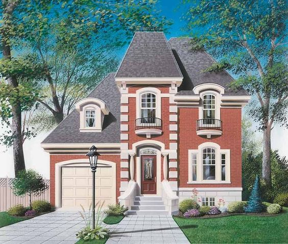 Eplans Second Empire House Plan   Prefectly Mated   Square    Eplans Second Empire House Plan   Prefectly Mated   Square Feet and Bedrooms from