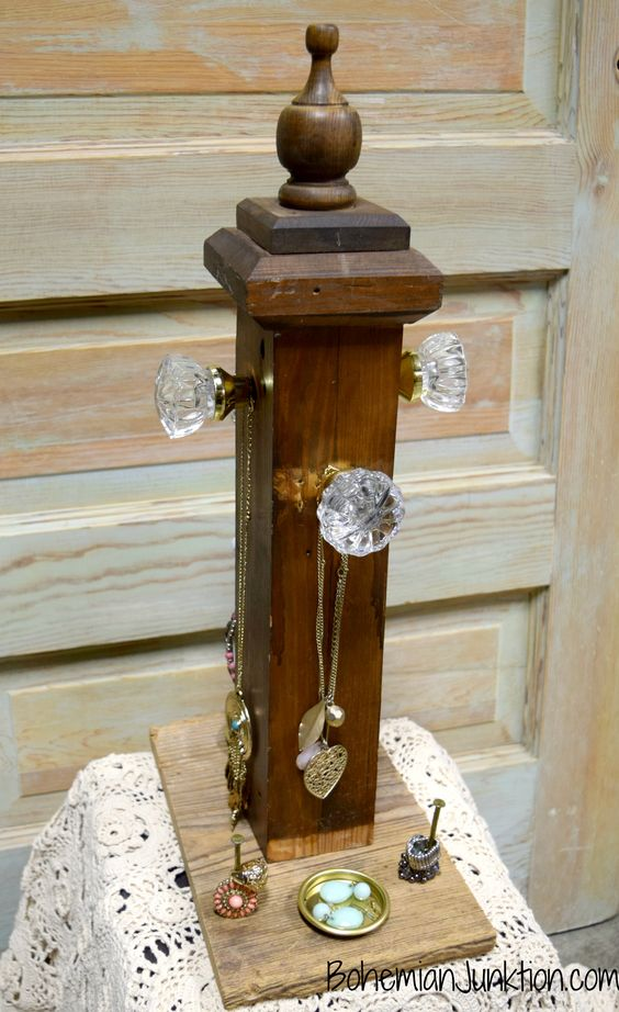 Repurposed jewelry holder diy craft show display and set for Repurposed jewelry holder