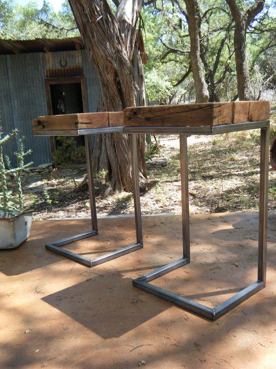 MODERN/RUSTIC Side Table 100 Years Old LongLeaf от VaqueroDesigns