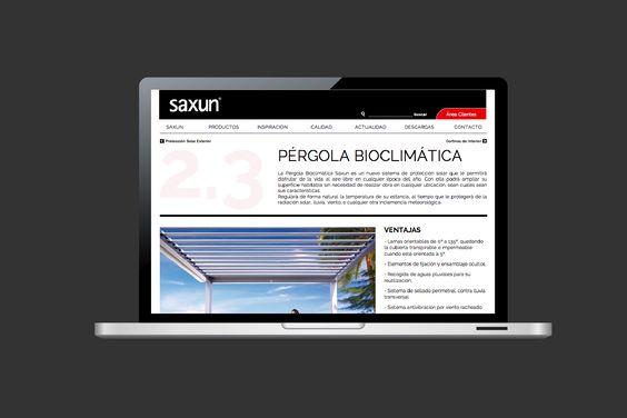Diseño y desarrollo web de Saxun. www.saxun.com
