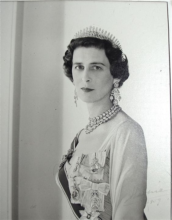 Marina, Duchess of Kent wearing the Rani of Pudukota's Tiara, given to her as a wedding gift.