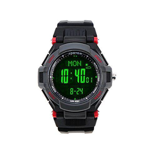 Lixada Spovan Multifunktions Uhr Outdoor Sports Digital LED-Armbanduhr - http://uhr.haus/lixada/rot2-lixada-spovan-multifunktions-uhr-outdoor
