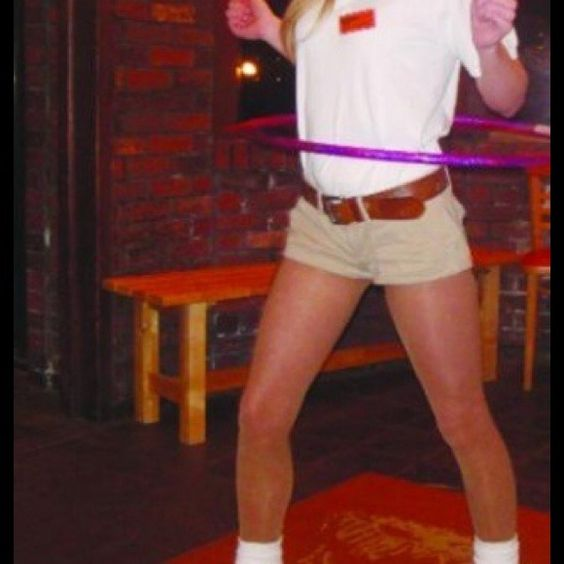 """Hooters Hostess Golf Polo Great Halloween costume! 16"""" across shoulder, 18.5"""" across bust. Hooters Tops"""