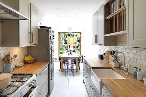 Pinterest the world s catalog of ideas for Small corridor kitchen design ideas