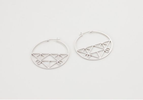 Geometric Hoops Earrings