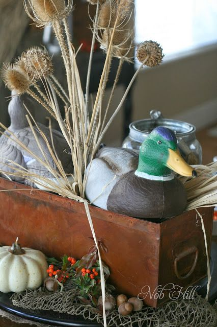 Thanksgiving - Duck Dynasty Style Duck Decoys and Thistles