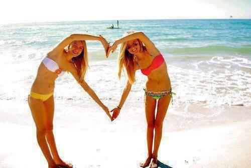 best friends at the beach! :)