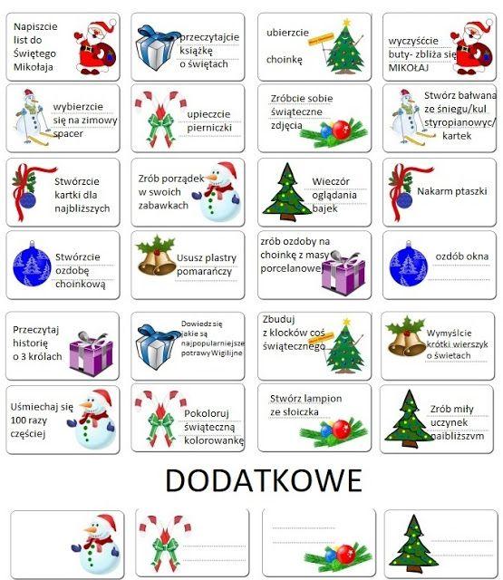 Schwytanechwile 24 Zadania Do Kalendarza Adwentowego 4 Do Stworz Dollar Store Christmas Decorations Elf Christmas Decorations Bullet Journal For Kids