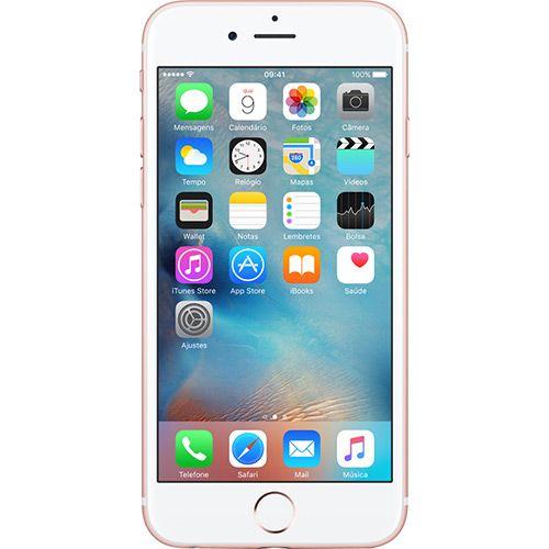 Americanas iPhone 6s 64GB Ouro Rosa Desbloqueado iOS 9 4G 12MP - Apple - R$3482,19