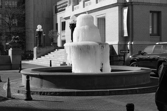 Greenville SC   Frozen Water Fountain