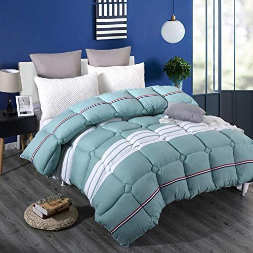 Marylee Thick Quilt Stripe Warm Quilts Quilted Comforter Duvet