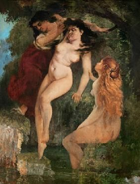 The three bathing Courbet