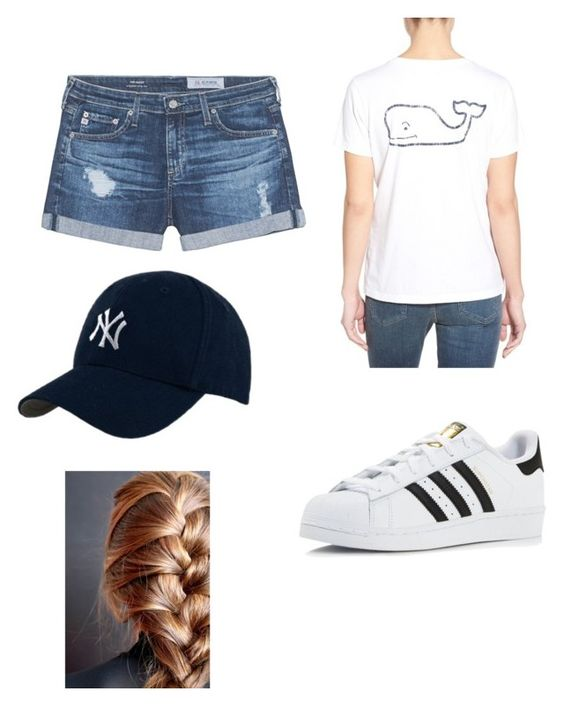 """""""Untitled #17"""" by oliviacoughlin54 on Polyvore featuring Vineyard Vines, AG Adriano Goldschmied and adidas"""