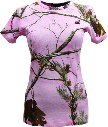 The Game's Women's Realtree Girl Camo Short Sleeve T-Shirt - AP Pink