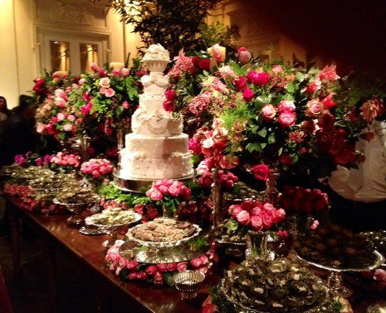 Casamento em tons de rosa. Decoração Suva e Kike produções e eventos.