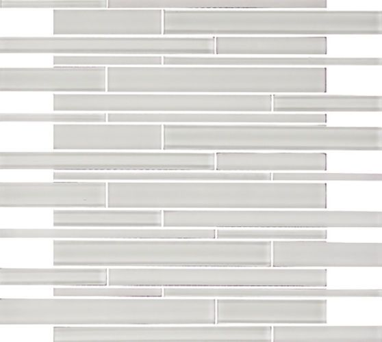 Sample White Gray Random Subway Glass Mosaic Tile Kitchen: Details About SAMPLE- Snow White Random Subway Glass