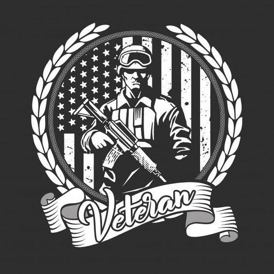 Us veteran soldier Premium Vector | Free Vector #Freepik #vector #freevintage #freestar #freet-shirt #freeflag