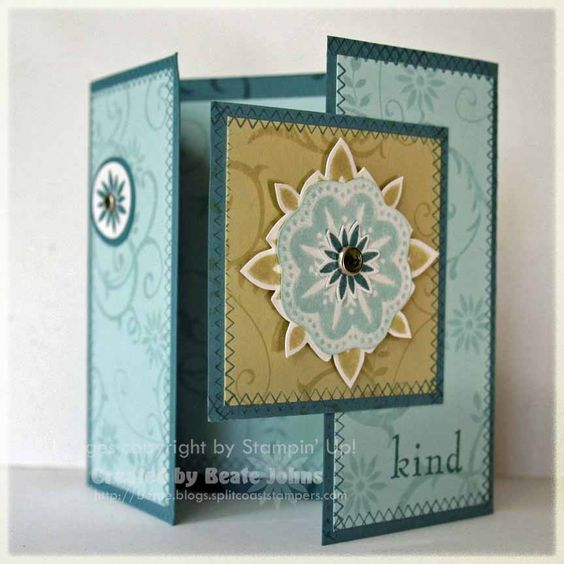 Gate Fold Card Directions With Dimensions And Pics