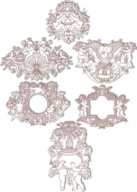 Advanced Embroidery Designs - Cupid Redwork Set