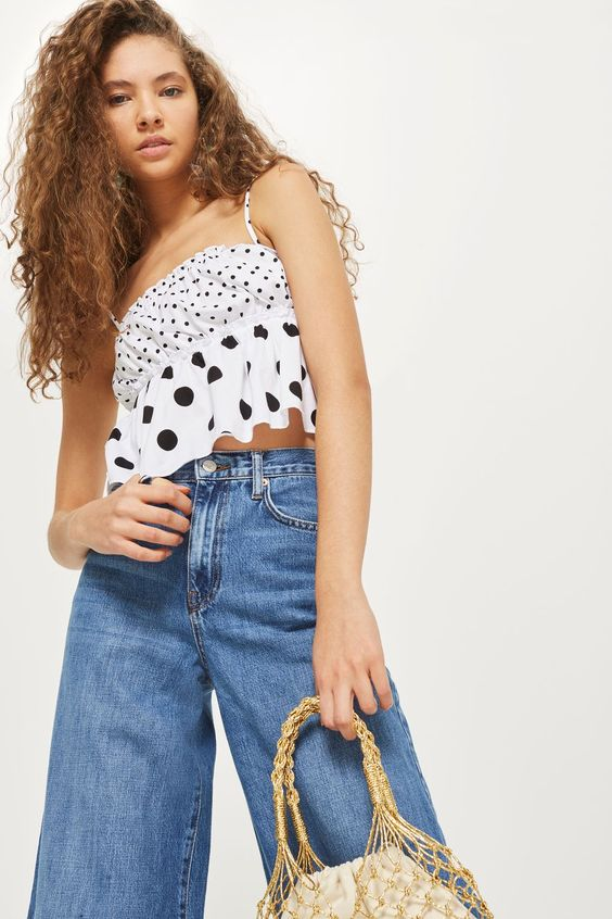 Mix Spot Print Camisole Top - New In Fashion - New In - Topshop Europe