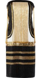 love! GucciChain-embellished sequined silk dress