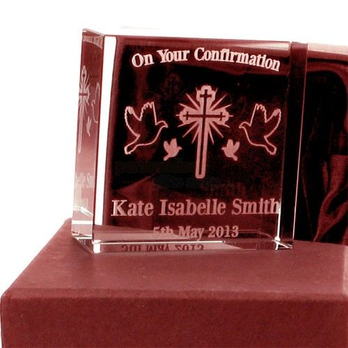 Engraved Confirmation Jade Block  from Personalised Gifts Shop - ONLY £24.95