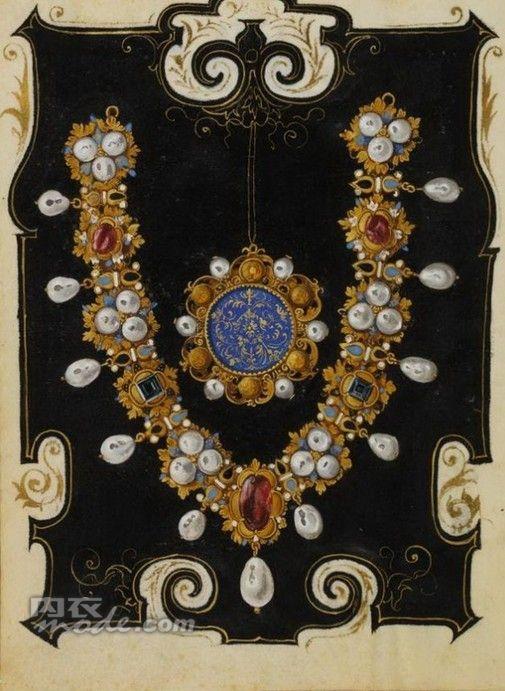 Hans Mielich gouache of jewelry:
