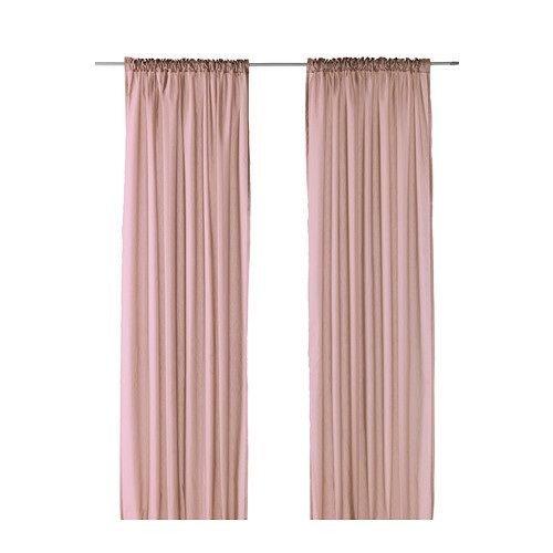 Pink curtains ikea and curtains on pinterest for Ready made blinds ikea