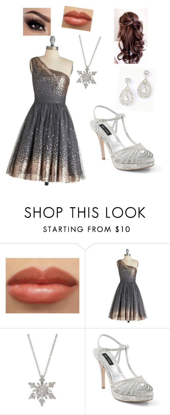 """""""Prom """"Silver"""""""" by winkpaa ❤ liked on Polyvore featuring beauty, White House Black Market and Ann Taylor"""
