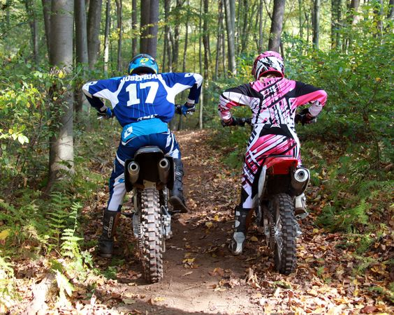 relationship goals on dirt bike