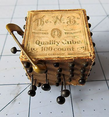 Antique-Pin-Cube-Neuss-Brothers-Germany-c-1910: