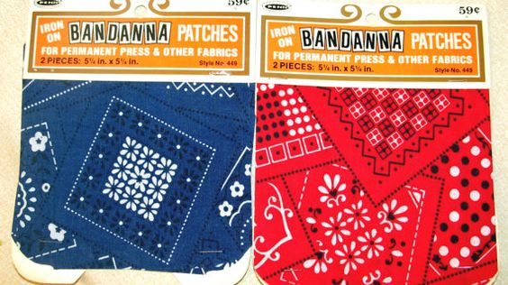 Vintage Iron On Bandana Patches for Fabric by MagnoliasDownSouth, $6.00