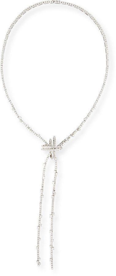 Staurino Fratelli 18k White Gold Spaghetti Diamond Necklace
