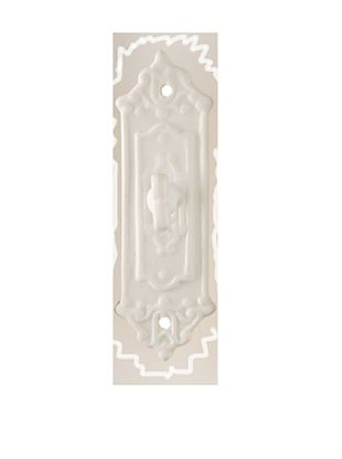 The HomePort Collections Ceramic Doorplate Hook Sweetheart (White)