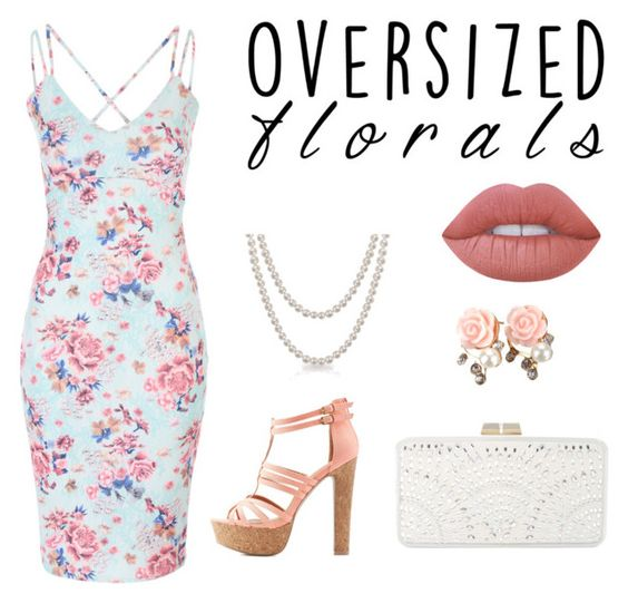 """#55 Oversized Florals"" by tori-k-meow ❤ liked on Polyvore featuring Charlotte Russe, BCBGMAXAZRIA, Bling Jewelry and Lime Crime"