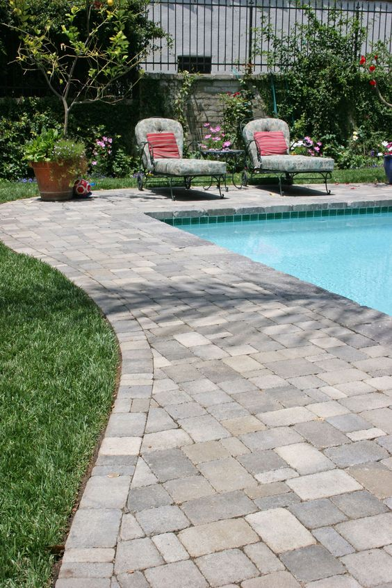 Pinterest the world s catalog of ideas for Pool paving ideas