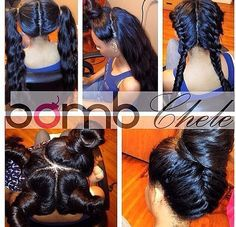 Side part vexin sew ins
