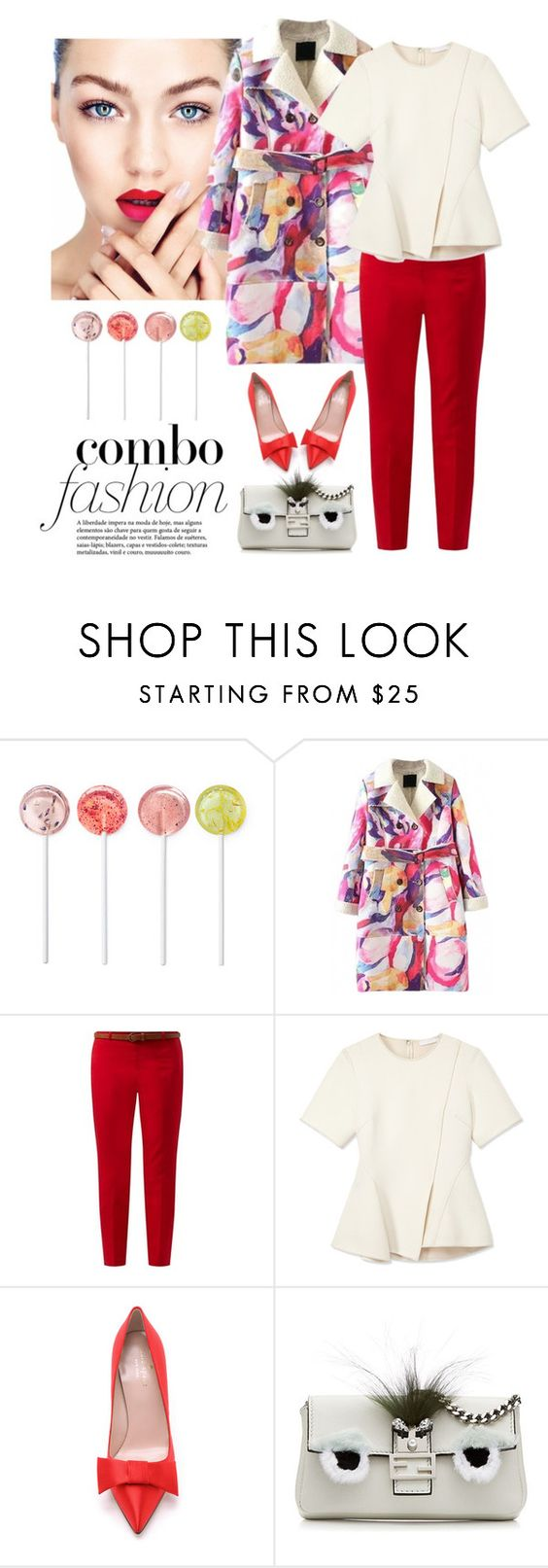 """""""Lollypop"""" by lera-chyzh ❤ liked on Polyvore featuring Alexander Wang, Kate Spade, Fendi, women's clothing, women's fashion, women, female, woman, misses and juniors"""