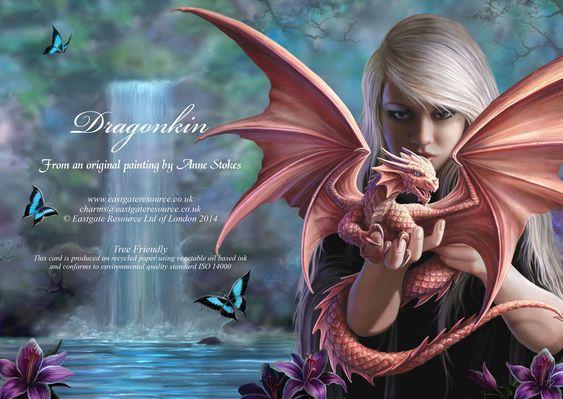 Dragonkin blank card [AN47] - £2.49 : Dragonrat Jewellery