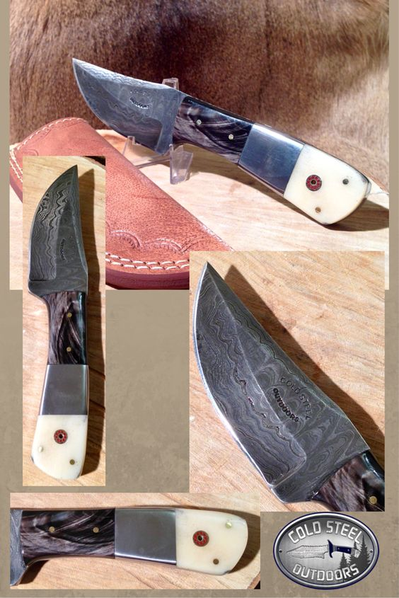 Whitetail Hunter from Cold Steel Outdoors.  World Class Damascus Steel Hunting Knives. http://coldsteeloutdoors.com/collections/damascus-steel-knives